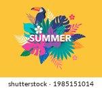summer time fun concept design. ... | Shutterstock .eps vector #1985151014