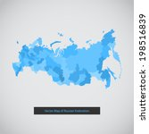 russia map. vector background... | Shutterstock .eps vector #198516839