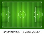 green striped soccer field with ...   Shutterstock .eps vector #1985190164