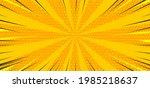 pop art yellow comics book... | Shutterstock .eps vector #1985218637