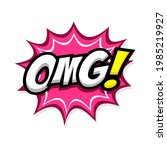 comic speech bubbles with text... | Shutterstock .eps vector #1985219927