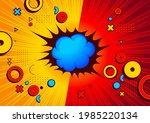 geometric shape comic templat...   Shutterstock .eps vector #1985220134