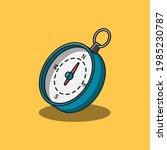 handheld compass illustration... | Shutterstock .eps vector #1985230787
