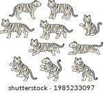 a set of illustrations of white ... | Shutterstock .eps vector #1985233097
