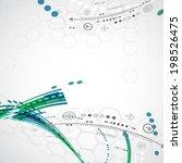 abstract computer technology... | Shutterstock .eps vector #198526475