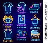 laundry label set. vector...   Shutterstock .eps vector #1985294504