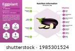 eggplant and its nutritional...   Shutterstock .eps vector #1985301524