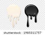 drip paint spot 3d set isolated ...   Shutterstock .eps vector #1985311757