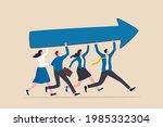 team success and improvement ... | Shutterstock .eps vector #1985332304