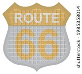 route 66 sign icon vector...   Shutterstock .eps vector #1985358014