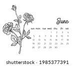 2022 Floral Calendar Grid...