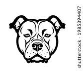 american staffordshire bull... | Shutterstock .eps vector #1985394407