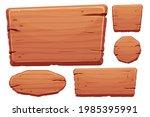 wood button set in cartoon...