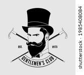 gentleman club label design...   Shutterstock .eps vector #1985408084