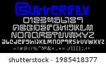 latin alphabet uppercase ... | Shutterstock .eps vector #1985418377