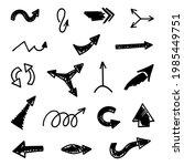 vector set of hand drawn arrows ...   Shutterstock .eps vector #1985449751