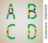 alphabet on the background of... | Shutterstock .eps vector #198545699