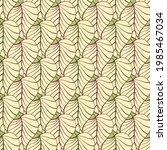 autumn leaves vector seamless...   Shutterstock .eps vector #1985467034