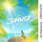 Summer Holidays Vector Design ...