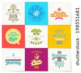 vector set of summer vacation... | Shutterstock .eps vector #198551681