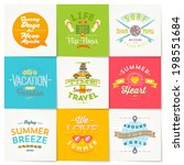 vector set of travel and summer ... | Shutterstock .eps vector #198551684