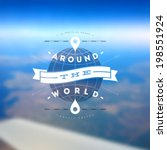 around the world   type design... | Shutterstock .eps vector #198551924