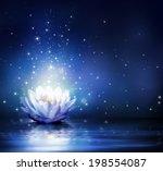 Magic Flower On Water   Blue