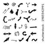 vector set of hand drawn arrows ...   Shutterstock .eps vector #1985542991