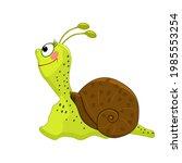Cartoon Snail Isolated On...