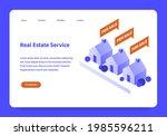 real estate service landing...   Shutterstock .eps vector #1985596211