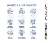 industry 4.0 concept icons set. ... | Shutterstock .eps vector #1985617094