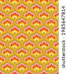 1970s Floral Pattern. Retro 70s ...