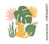 jungle jaguar. rainforest...   Shutterstock .eps vector #1985668457