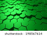 3d background with hexagons | Shutterstock . vector #198567614