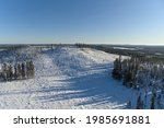 drone shot of winter mountain... | Shutterstock . vector #1985691881