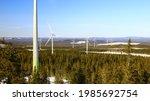 wind park in sweden in late... | Shutterstock . vector #1985692754