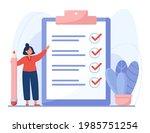 completed checklist of cartoon...   Shutterstock .eps vector #1985751254