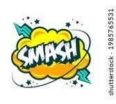 comic speech bubbles with text... | Shutterstock .eps vector #1985765531