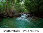 Waterfall Green Forest River...