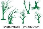 set of dead trees silhouette on ... | Shutterstock .eps vector #1985822924