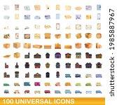 100 universal icons set.... | Shutterstock .eps vector #1985887967