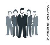 vector isolated business people ... | Shutterstock .eps vector #198589907