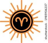 aries zodiac astrology signs... | Shutterstock .eps vector #1985936237