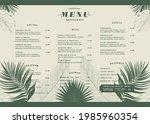 restaurant menu template with...   Shutterstock .eps vector #1985960354