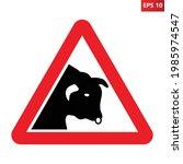 bull warning sign. vector...   Shutterstock .eps vector #1985974547