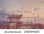 oil rig production platform on... | Shutterstock . vector #198599855