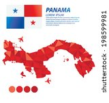 panama geometric concept design | Shutterstock .eps vector #198599981