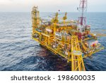 oil production platform on the... | Shutterstock . vector #198600035