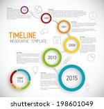 vector infographic timeline... | Shutterstock .eps vector #198601049