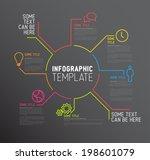 vector dark infographic report... | Shutterstock .eps vector #198601079